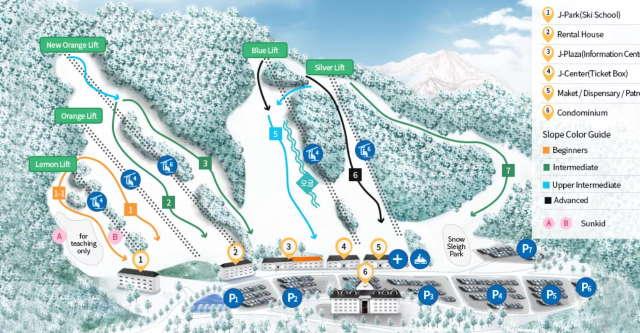 Gornolyzhnyj-kurort-Jisan-Forest-Ski-Resort-Iceheon