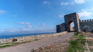 Главные ворота крепости Калиакра — реставрация конца 20-го века