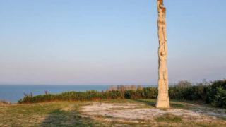 Памятник 40 Калиакрским девам у входа в крепость