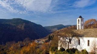 Вид с горы Родопы на юге Болгарии