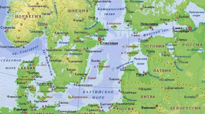Порты Балтийского моря в России